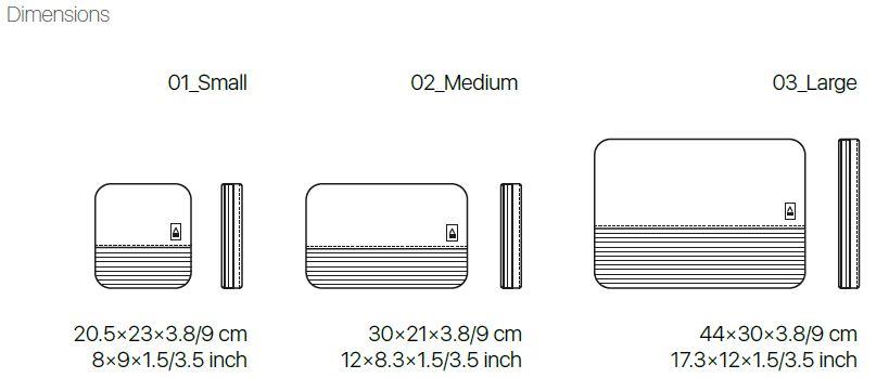 APPERCASE SYSTEMA 系列收納袋 packing organizers set S/M/L (Sand & Black)